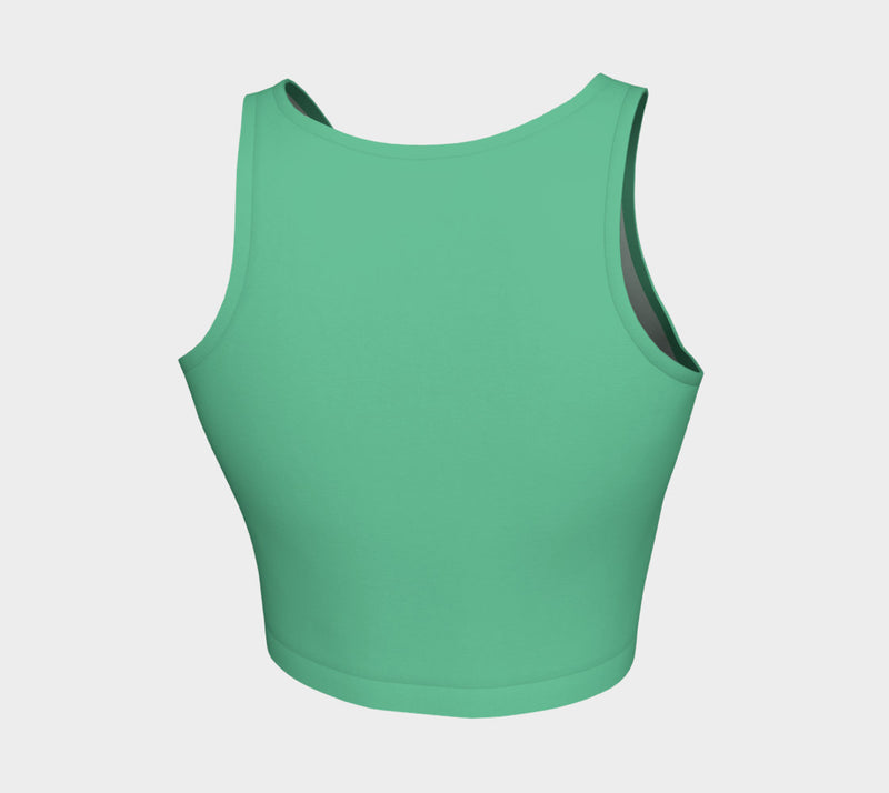 Solid Athletic Crop Top - Light Green - SummerTies