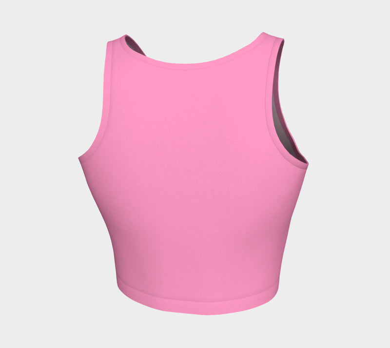 Solid Athletic Crop Top - Light Pink - SummerTies