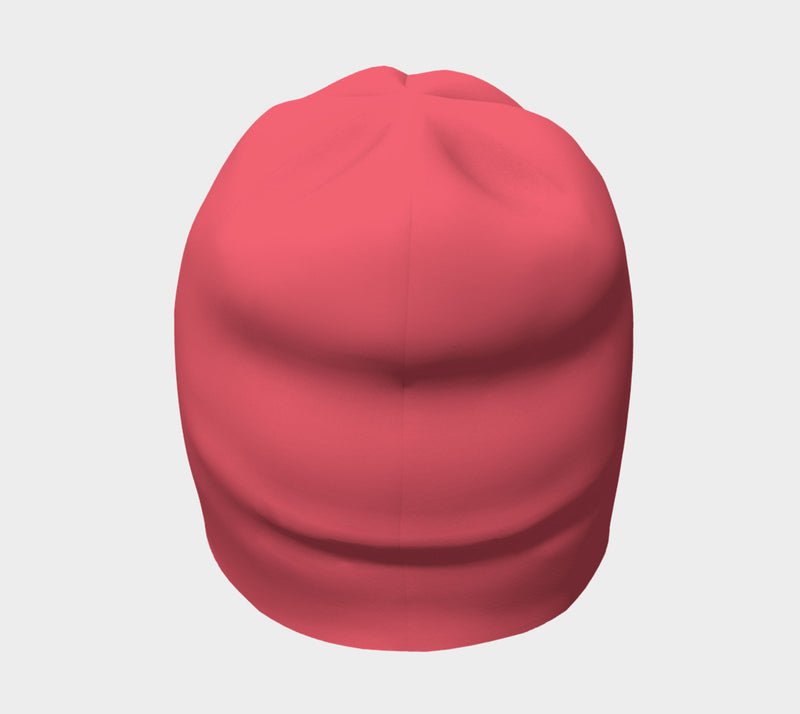 Solid Winter Beanie - Coral - SummerTies