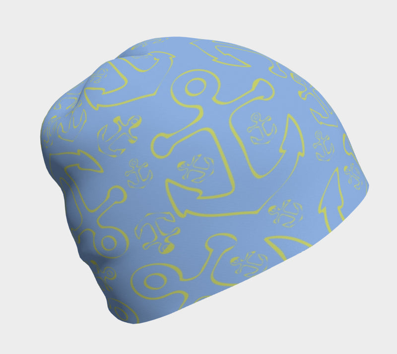 Anchor Dream Light Blue Winter Beanie - SummerTies