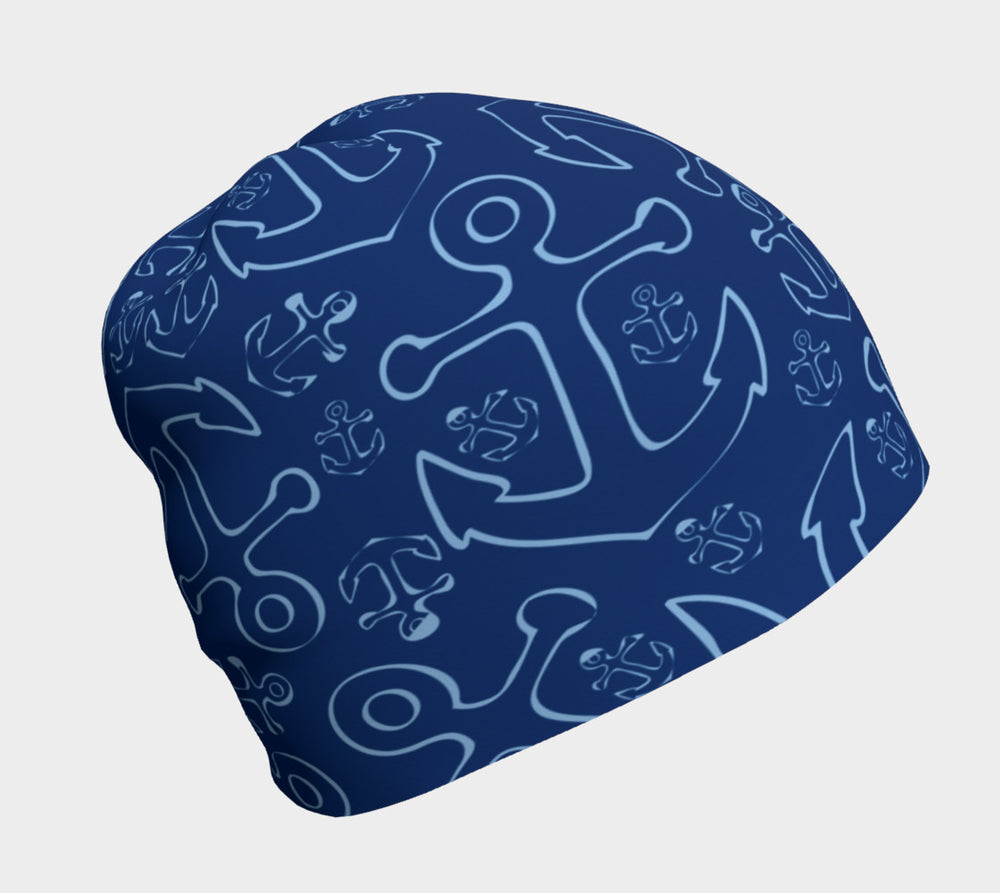 Anchor Dream Navy Winter Beanie - SummerTies