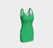 Solid Bodycon Dress - Green