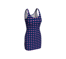 Elephant Bodycon Dress - Pink on Navy - SummerTies