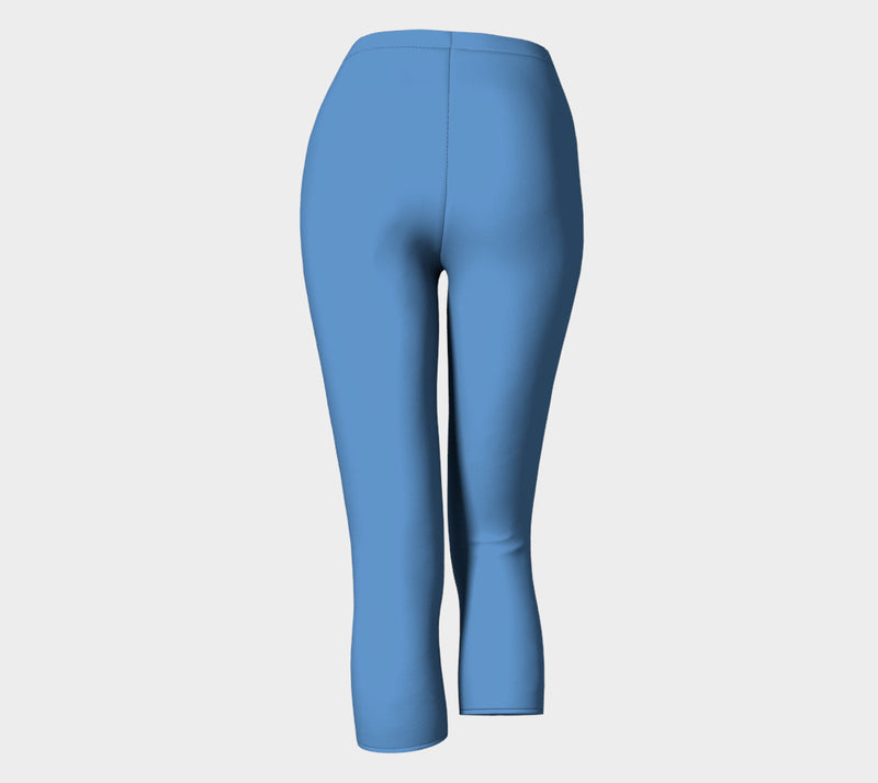 Solid Adult Capris - Blue