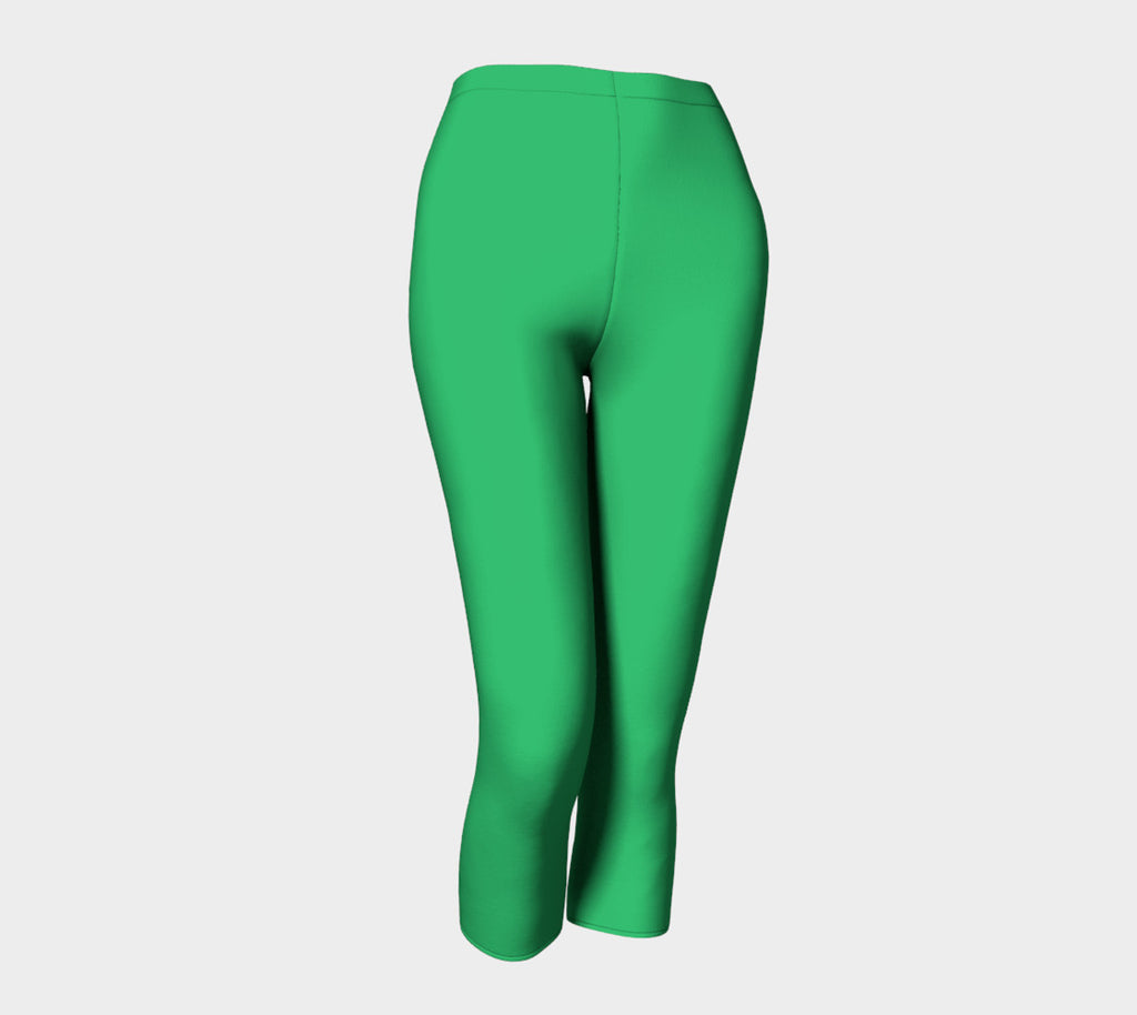 Solid Adult Capris - Green