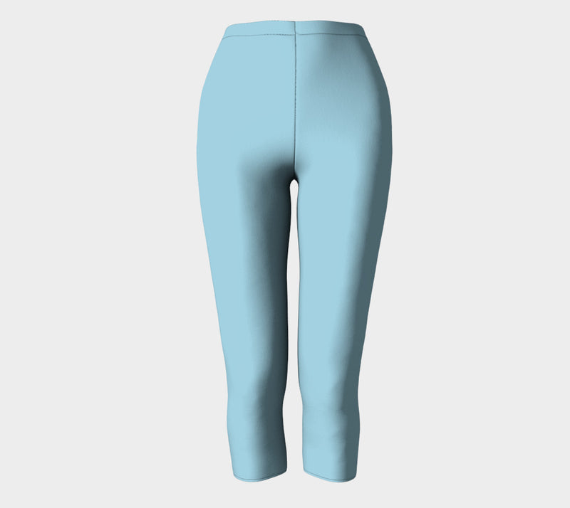 Solid Adult Capris - Light Blue - SummerTies