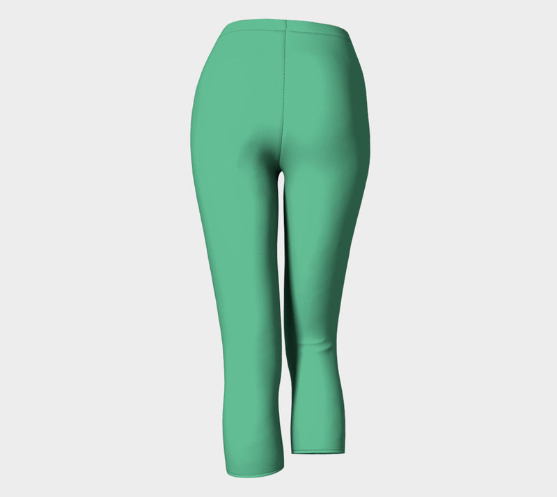 Solid Adult Capris - Light Green - SummerTies