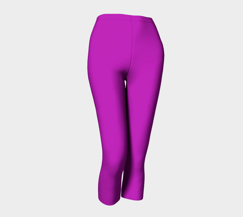 Solid Adult Capris - Purple