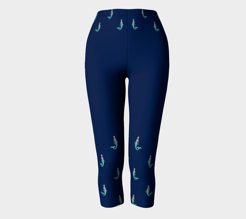 Mermaid Adult Capris - Navy - SummerTies