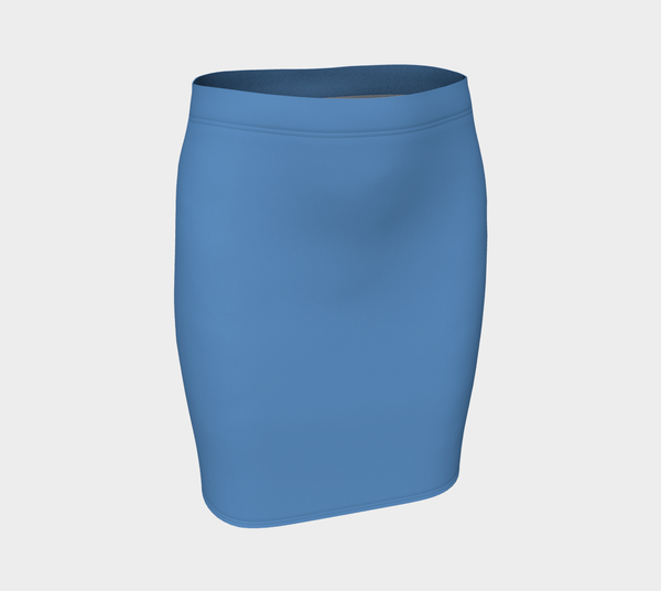 Solid Fitted Skirt - Blue - SummerTies