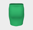 Solid Fitted Skirt - Green - SummerTies