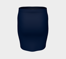 Solid Fitted Skirt - Navy - SummerTies