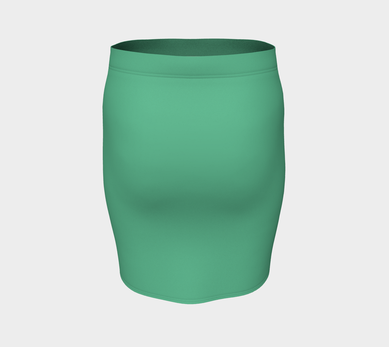 Solid Fitted Skirt - Light Green