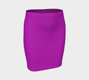 Solid Fitted Skirt - Purple - SummerTies