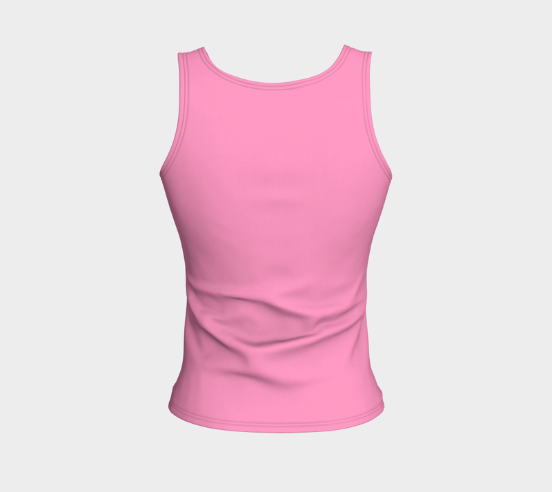 Solid Fitted Tank Top - Light Pink - SummerTies
