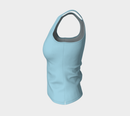 Solid Fitted Tank Top - Light Blue - SummerTies