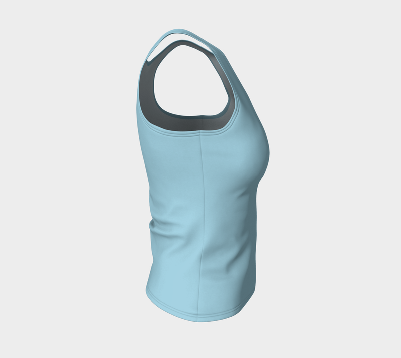 Solid Fitted Tank Top - Light Blue