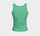 Solid Fitted Tank Top - Light Green - SummerTies