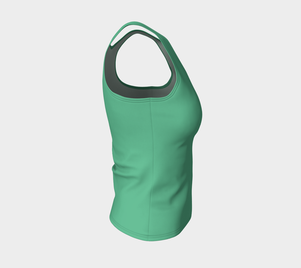 Solid Fitted Tank Top - Light Green