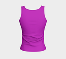 Solid Fitted Tank Top - Purple - SummerTies