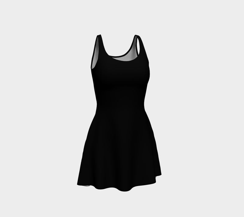 Solid Flare Dress - Black