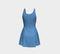 Solid Flare Dress - Blue