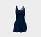 Solid Flare Dress - Navy
