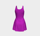 Solid Flare Dress - Purple