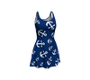 Anchor Pinwheel Flare Dress - Navy - SummerTies