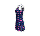 Elephant Flare Dress - Pink on Navy - SummerTies