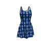 Anchor Toss Flare Dress - Navy - SummerTies