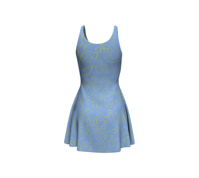 Anchor Dream Flare Dress - Light Blue - SummerTies