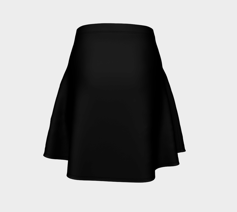 Solid Flare Skirt - Black - SummerTies