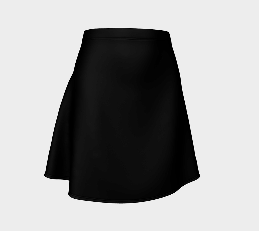 Solid Flare Skirt - Black