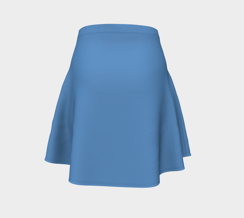 Solid Flare Skirt - Blue - SummerTies