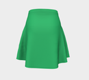 Solid Flare Skirt - Green - SummerTies