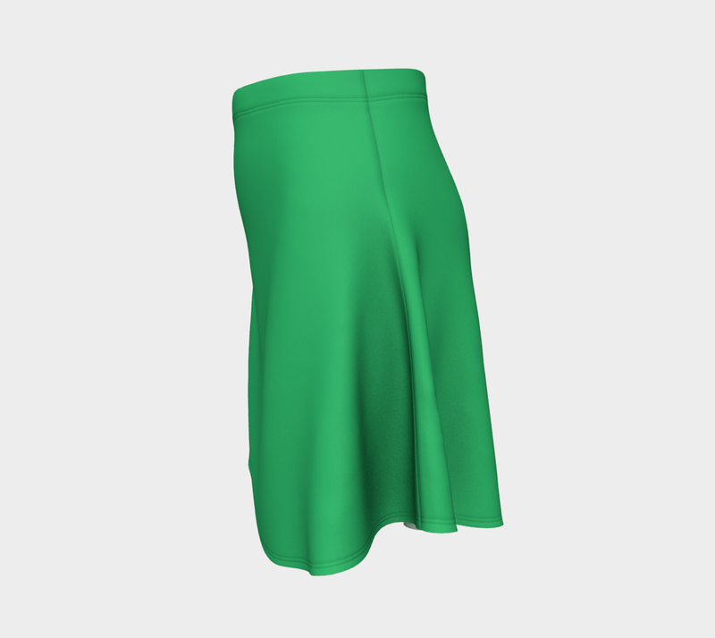 Solid Flare Skirt - Green