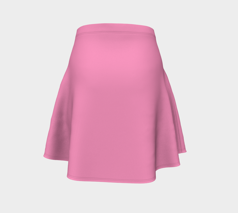 Solid Flare Skirt - Light Pink - SummerTies