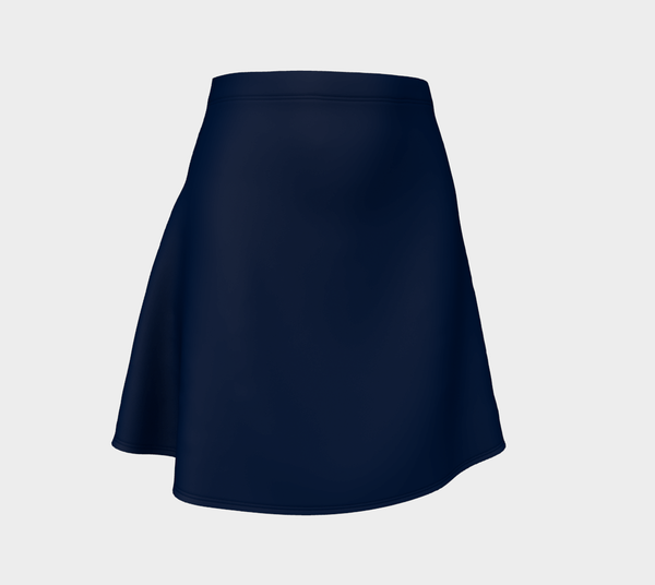 Solid Flare Skirt - Navy - SummerTies