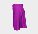 Solid Flare Skirt - Purple - SummerTies