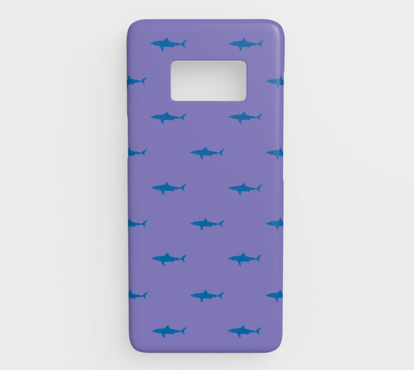 Shark Cell Phone Case Galaxy S8 - Blue on Purple - SummerTies