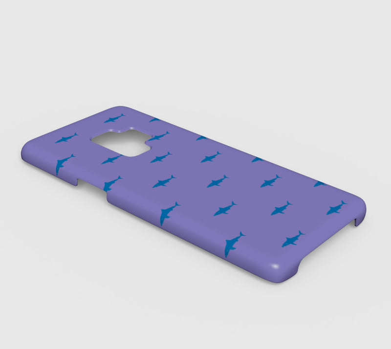Shark Cell Phone Case Galaxy S9 - Blue on Purple - SummerTies
