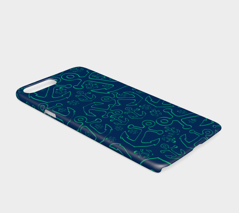 Anchor Dream Cell Phone Case iPhone 7 / 8 - Green on Navy - SummerTies