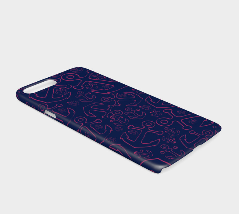 Anchor Dream Cell Phone Case iPhone 7 / 8 - Pink on Navy - SummerTies