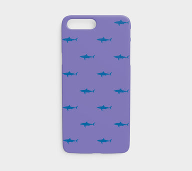 Shark Cell Phone Case iPhone 7 / 8 - Blue on Purple