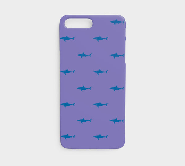 Shark Cell Phone Case iPhone 7 / 8 - Blue on Purple - SummerTies