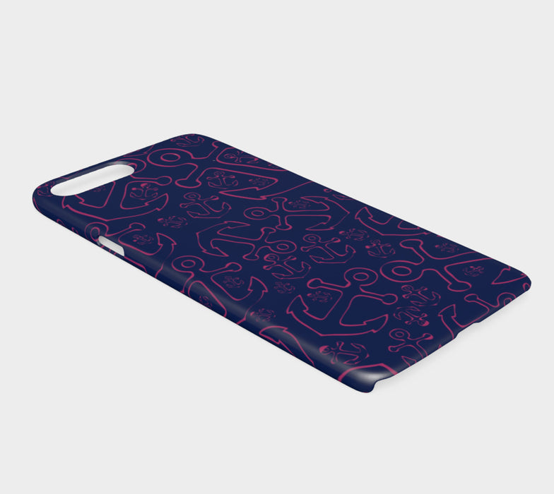 Anchor Dream Cell Phone Case iPhone 7Plus / 8Plus - Pink on Navy - SummerTies