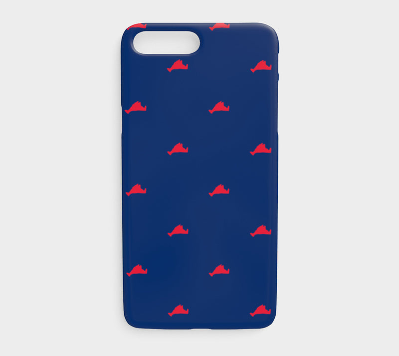 Martha's Vineyard Cell Phone Case iPhone 7Plus / 8Plus - Red on Navy - SummerTies