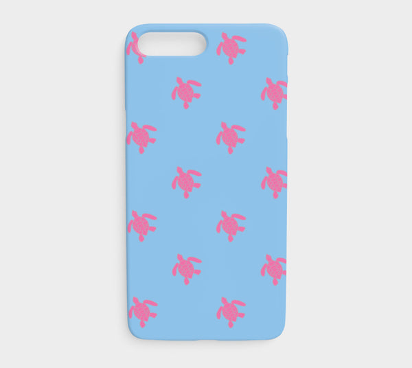 Turtle Cell Phone Case iPhone 7Plus / 8Plus - Pink on Blue