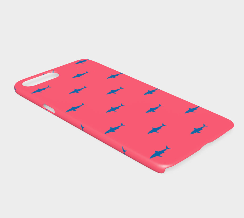 Shark Cell Phone Case iPhone 7Plus / 8Plus - Blue on Coral